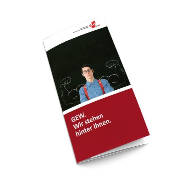 """GEW-Image-Flyer """"GEW. Wir stehen hinter Ihnen"""" (50 Stück)"""