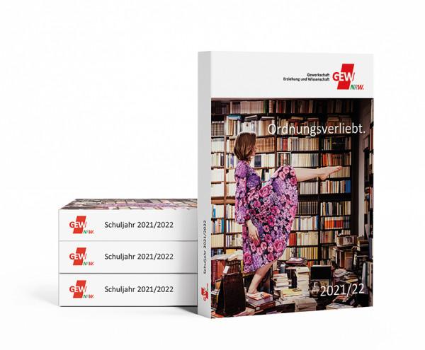 GEW-Taschenkalender mit Lesebändchen 2021/2022