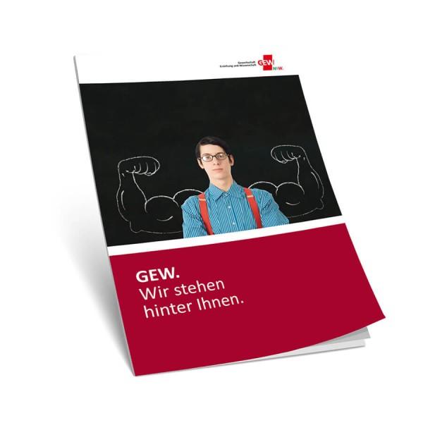 """GEW-Image-Broschüre """"GEW. Wir stehen hinter Ihnen"""" (10 Stück)"""